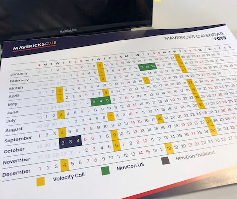 Mavericks Calendar